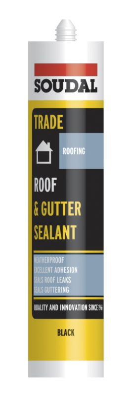 Soudal Trade Black Roof & Gutter Sealant 300ml