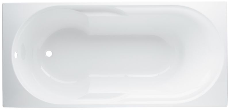 Aloha Acrylic Straight Bath White (L)1700 x (W)800mm