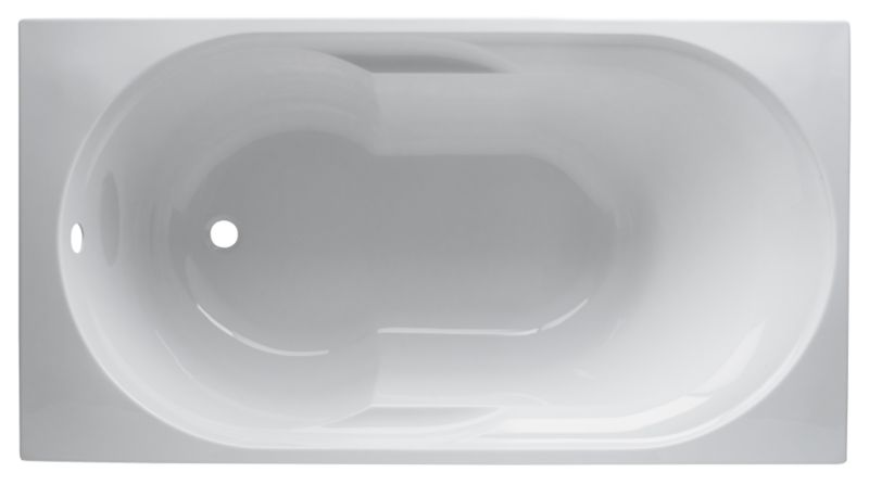 Aloha Acrylic Straight Bath White (L)1400mm