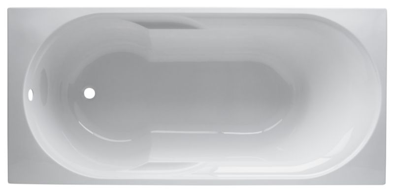 Aloha Acrylic Straight Bath White (L)1600mm