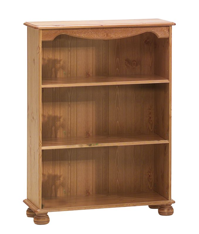 Low Bookcase Stained Pine