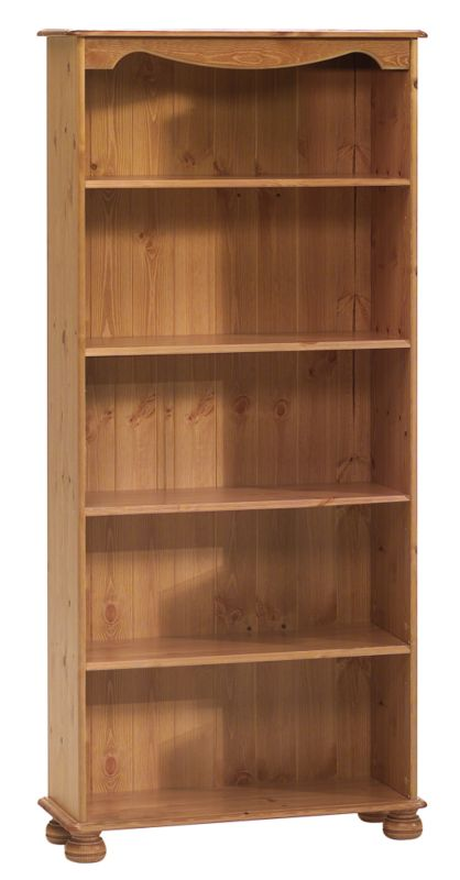 Tall Bookcase Stained Pine