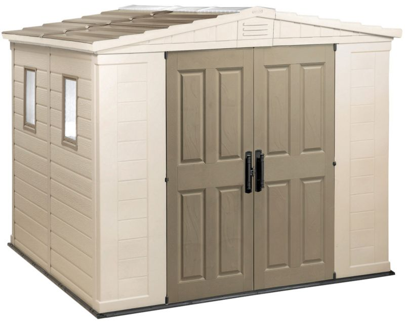 "Keter Apollo Resin Double-Door Shed (H)7'1"" x (W)8'5"" x (D)8'4"""