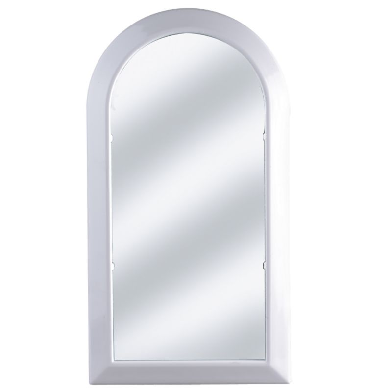 K and D Design Arch Mirror White