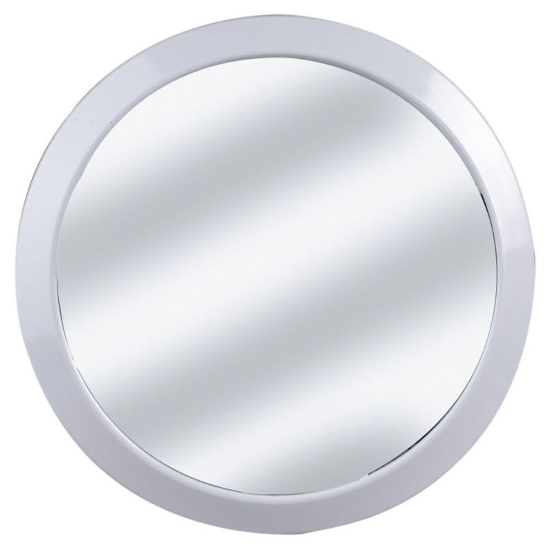 K and D Design Round Mirror White