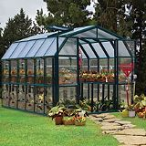 Save on this 8x12 Green Resin Frame Grand Greenhouse with Hybrid Polycarbonate Glazing - Home Delivered