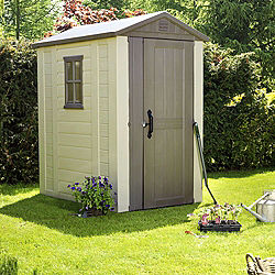 Keter 6x4 Apex Roof Shiplap Plastic Shed Assembly