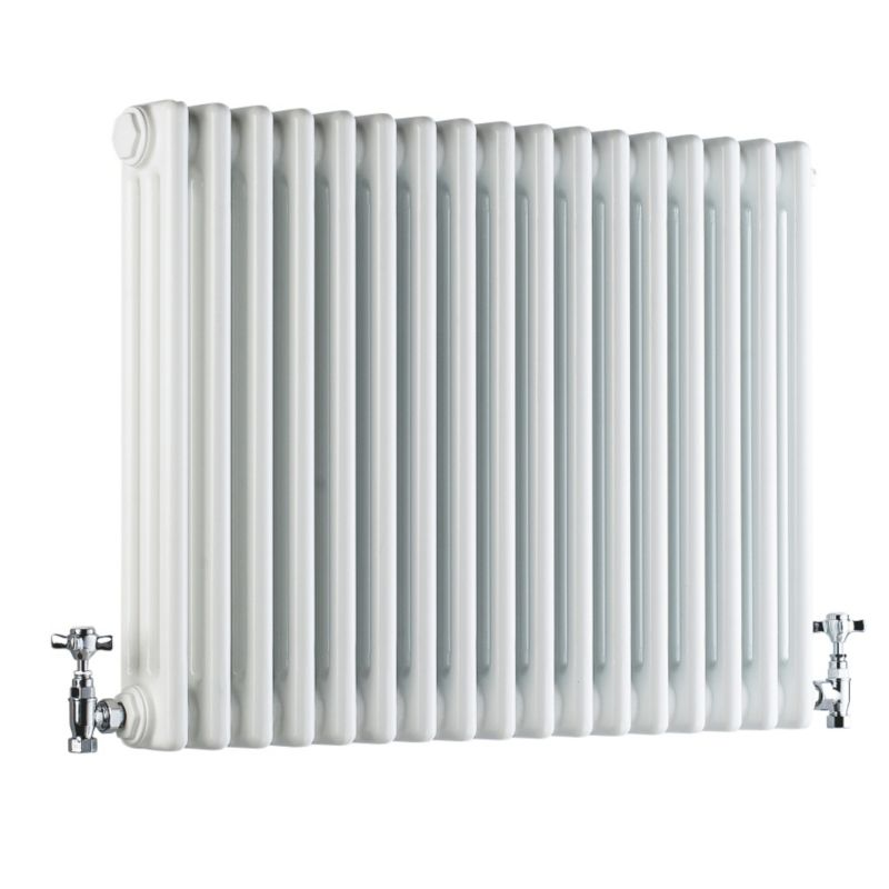 Acova 3 Column Horizontal Radiator White W1042 times H600mm