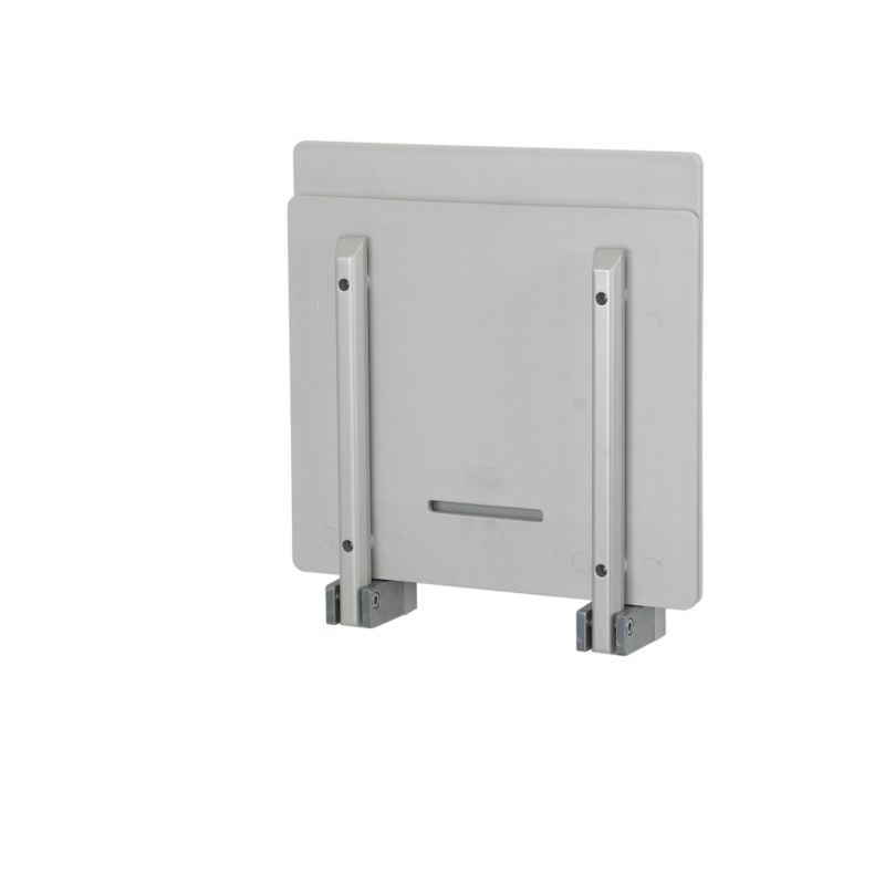 Wall Hung Folding Shower Seat With Back Rest White