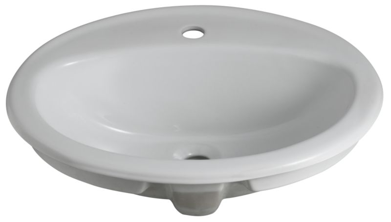 Mono Recessed Vanity Basin White (W)565 x (L)475mm
