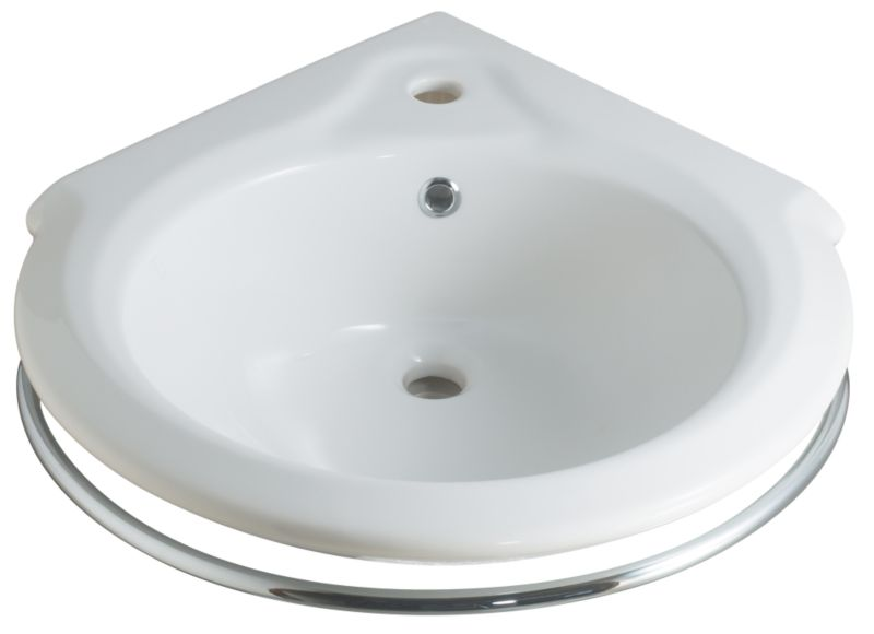 Barcelona Compact Basin White/Chrome Effect