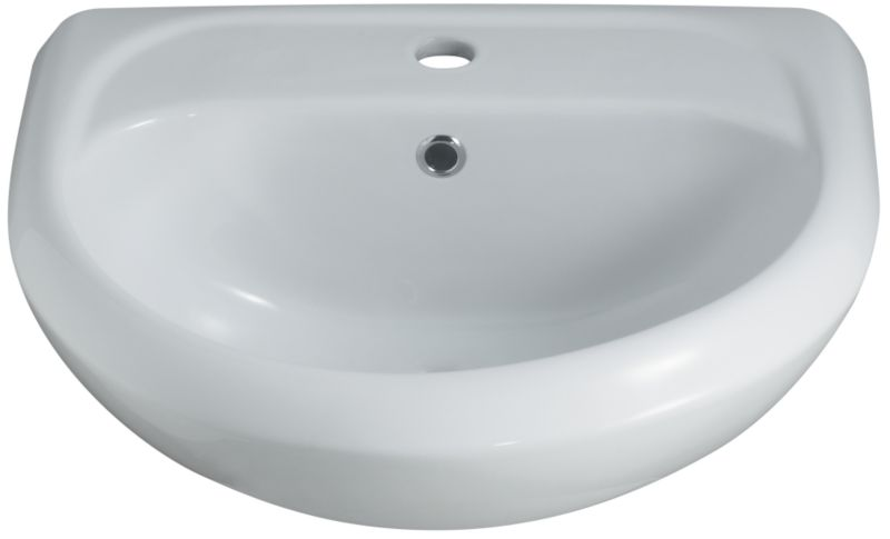 Mono Semi-Recessed Basin White (W)510 x (L)440mm