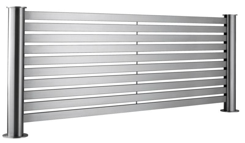 Accuro-Korle Mariner Flat Radiator Brushed Stainless Steel