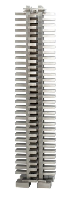 Accuro-Korle Totem 2560 Radiator Brushed Stainless Steel (H) 137 x (W) 32 x (D) 32cm