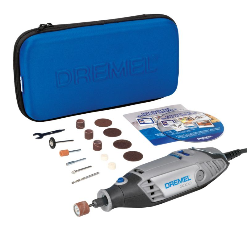 Dremel 3000 Series Multi Tool with 15 Accessories