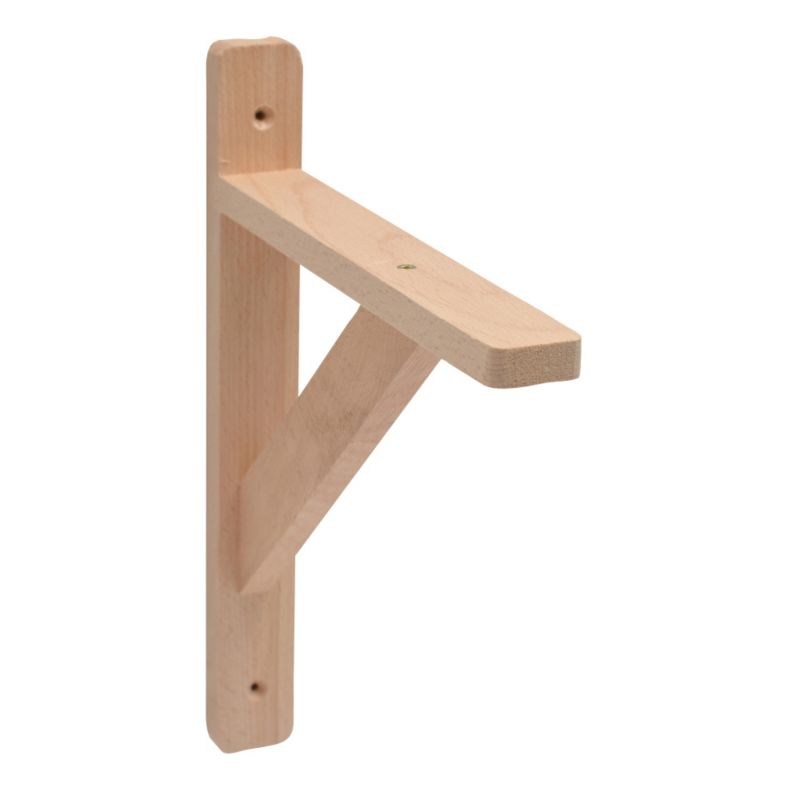 B&Q - B&Q Traditional Wooden Shelf Bracket, Beech Effect ...