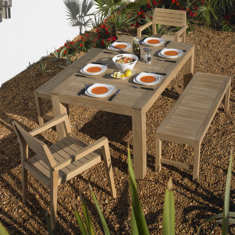 Santa Cruz Dining Set - Table, 2 Benches