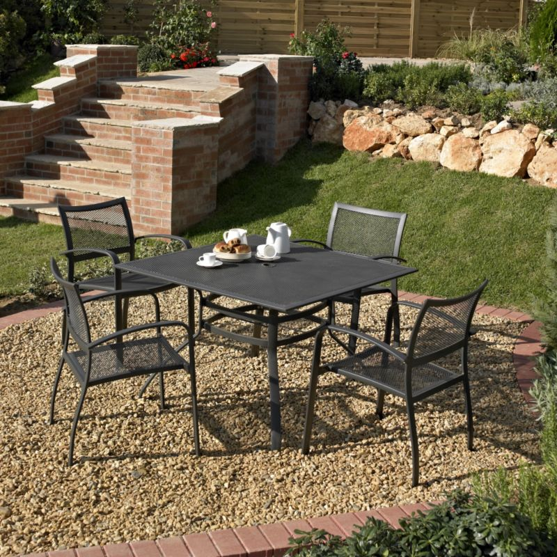 BandQ Boston Dining Set - Square Table and 4