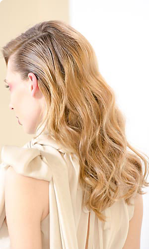 Houghton runway hairstyle