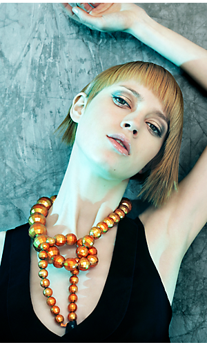 Andrew Mulvenna neon collection female look