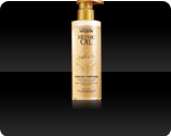 clear conditioner infused with golden sparkles which leaves fine hair hair with an airy touch but also beautifully shiny
