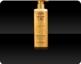 clear shampoo infused with golden sparkles which leaves fine hair hair with an airy touch but also beautifully shiny
