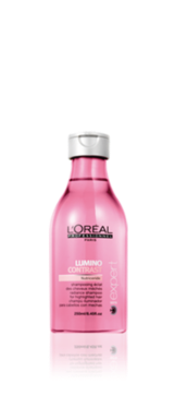 Bottle of Lumino Contrast Shampoo To Boost Radiance In Blonde, Highlighted Hair