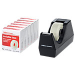 Office Depot Tischabroller Schwarz inkl 6 Rollen invisible Tape 19 mm x 33 m