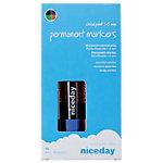 niceday Permanent Marker Keilspitze 1   5 mm Farbig sortiert 4 Stück