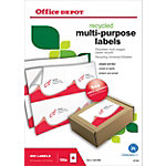 Office Depot Recycling Universaletiketten  105 x 148 mm 100 Blatt