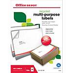 Office Depot Recycling Universaletiketten  210 x 297 mm 100 Blatt