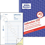 Avery Zweckform Lieferschein 1722 DIN A6 2 x 40 Blatt