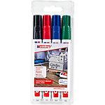 edding Permanent Marker 3300 Keilspitze 1   5 mm Farbig sortiert 4 Stück