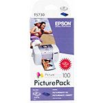 Epson T5730 Original Schwarz & 3 Farbig Foto Tintenpatrone und Foto Papier Set C13T573040