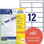 Avery Zweckform Universal Etiketten 3659 Weiß 97 x 42,3 mm 100 Blatt