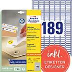 Avery Zweckform Wiederablösbare Etiketten Stick & Lift Weiß 25,4 x 10 mm 25 Blatt