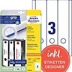Avery Zweckform Ordner Etiketten BlockOut™ 61 mm 61 x 297 mm Weiß 25 Blatt