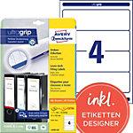 Avery Zweckform Ordner Etiketten BlockOut™ 61 mm 61 x 192 mm Weiß 100 Stück