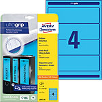 Avery Zweckform Ordner Etiketten BlockOut™ 61 x 192 mm Blau 80 Stück