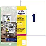 Avery Zweckform Heavy Duty Wetterfeste Etiketten Weiß 210 x 297 mm 20 Blatt