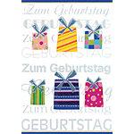 BSB Obpacher Geburtstagskarten + Umschläge Present Weiß 10 Stück