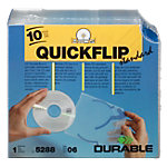 10 Stueck Durable CD DVD Huellen QUICKFLIP Standard