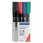 Staedtler Permanente Folienstift Lumocolor Faserschreiber ca. 0,6 mm (F) Farbig sortiert 10 Stück