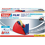 Tesa  Easy Cut  Professional Tischabroller Rot Blau 25 mm x 66 m