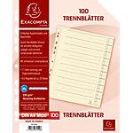Exacompta Trennblätter mit Lochung Chamois Karton 100 Stück