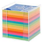 Folia Zettelbox Transparant inkl. 700 Blatt Farbig sortiert 1 x 700 Blatt