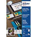 Avery Zweckform Visitenkarten C32015 25 DIN A4+ 260 g