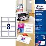 Avery Zweckform Visitenkarten C32028 25 DIN A4 250 g