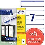Avery Zweckform Ordner Etiketten BlockOut™ 38 x 192 mm Weiß 700 Stück