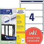 Avery Zweckform Ordner Etiketten BlockOut™ 61 x 192 mm Weiß 400 Stück